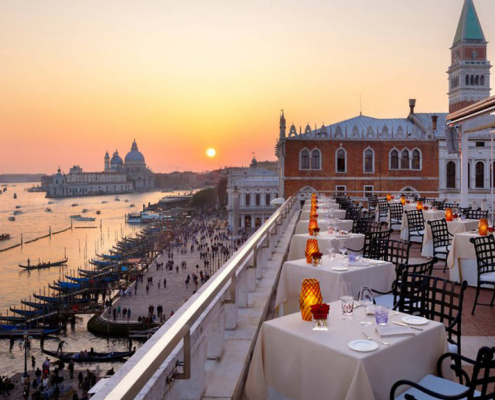 Venice restaurant with a view